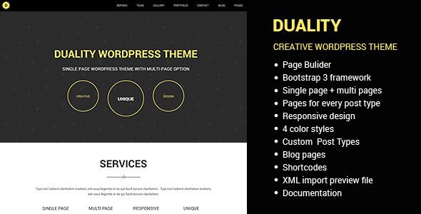 Duality – Multipage Singlepage WordPress Theme