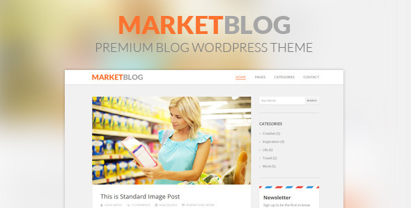 MarketBlog – Premium Blog WordPress Theme