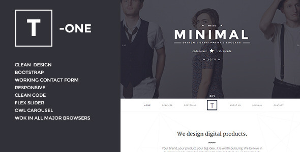 T-ONE Clean & Minimal WordPress Theme