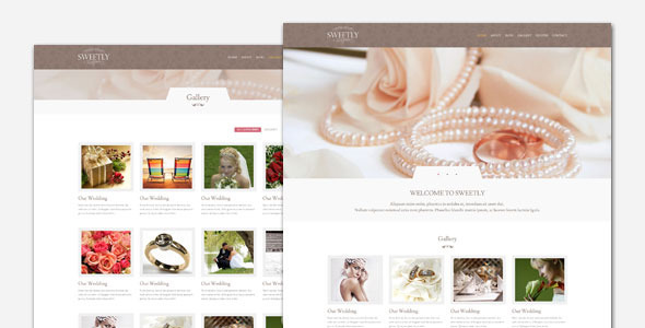 Sweetly – Wedding WordPress Theme