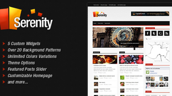 Serenity News & Magazine WordPress Theme