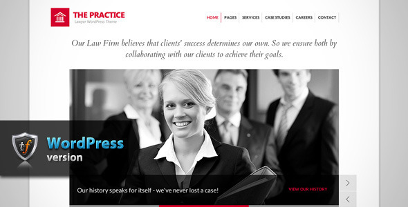 The Practice – Lawyer WordPress Theme