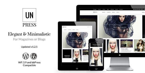 unPress Magazine – Elegant & Minimalistic