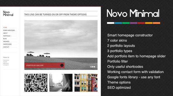 NovoMinimal WordPress Theme