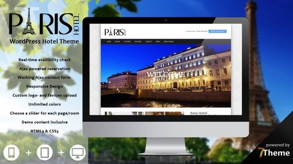 Paris – a WordPress Travel & Hotel Theme