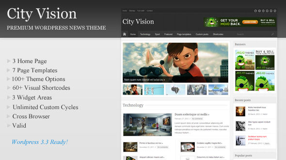 City Vision – News/Magazine/Blog Theme