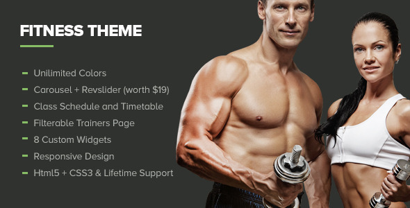 Fitness – Premium Gym WordPress Theme
