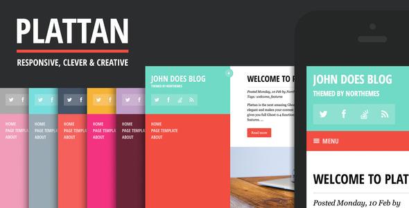 Plattan – Flat and Responsive WordPress Theme
