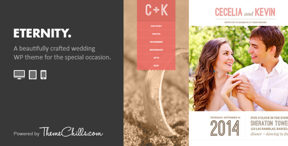 Eternity – Responsive Wedding WordPress Theme