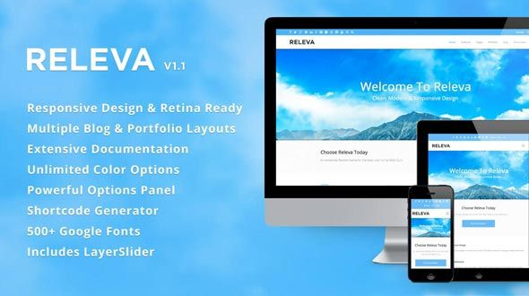Releva – A Responsive WordPress Theme