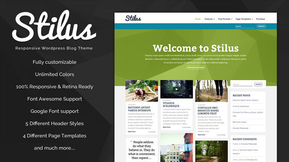 Stilus – Responsive WordPress Blog Theme