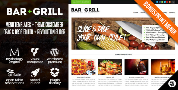 Bar + Grill: WP for Restaurants & Local Businesses