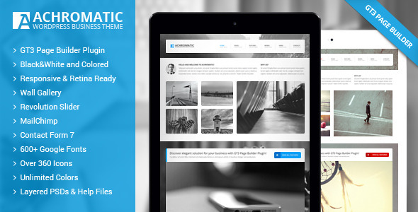 Achromatic Business WordPress Theme