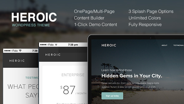 Heroic – Creative + Modern WordPress Theme
