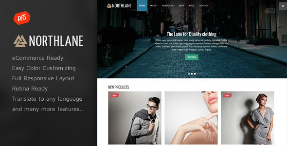 NorthLane – eCommerce WordPress Theme