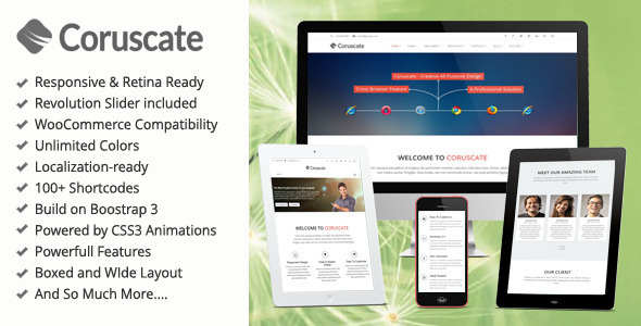Coruscate – MultiPurpose Bootstrap WordPress Theme