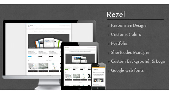 Rezel Simple Responsive WordPress Theme