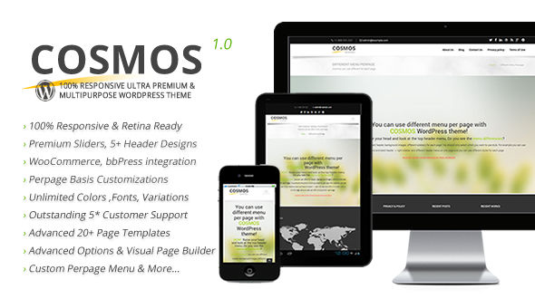 Cosmos Ultra Responsive & Multipurpose WordPress Theme
