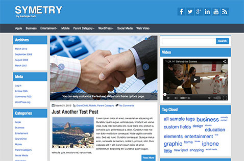 Symetry WordPress Theme