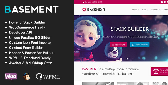 Basement – Responsive Multi-Purpose Theme