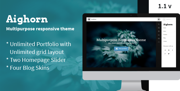 Aighorn WP – Multipurpose Responsive theme