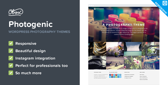 Photogenic – WordPress Photography Theme