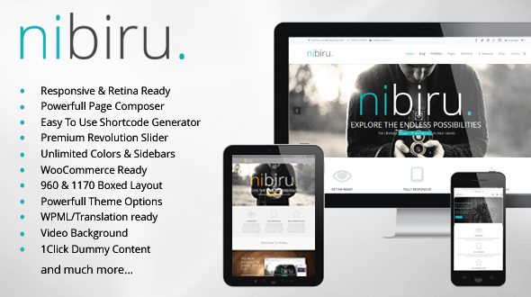 Nibiru Retina Responsive Multi-Purpose Theme