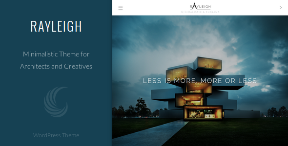 Rayleigh – A Responsive Minimal Architect Theme