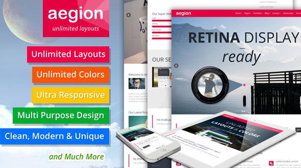 AeGion – Multi Purpose Responsive WordPress Theme