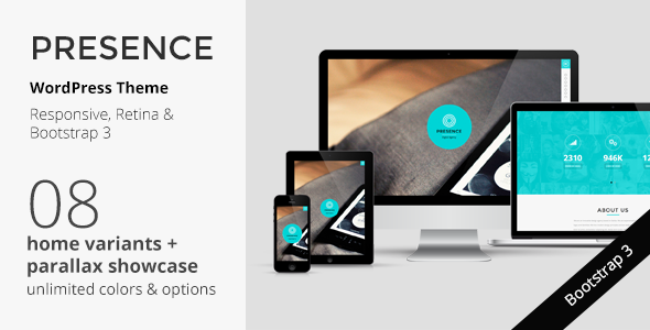 PRESENCE – WordPress Responsive One Page Parallax