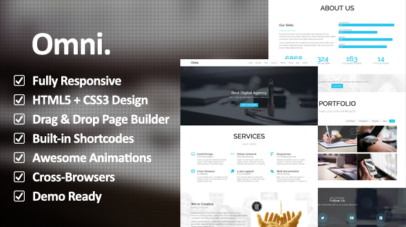 Omni. – Multipurpose Responsive One Page WordPress Theme