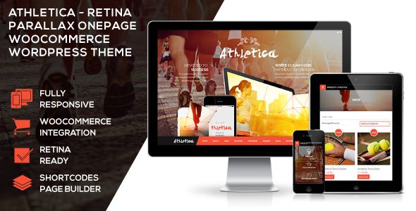 Athletica – Retina Parallax OnePage WP Shop Theme