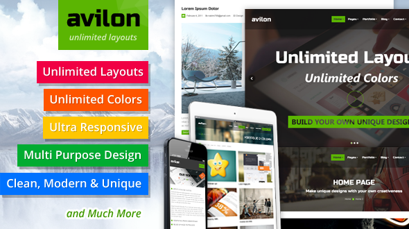 AviLon – Multi Purpose Responsive WordPress Theme