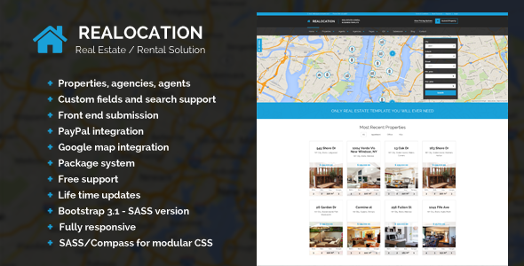 Realocation – Modern Real Estate WordPress Theme