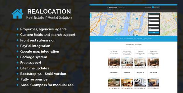 Realocation – Modern Real Estate WordPress Theme