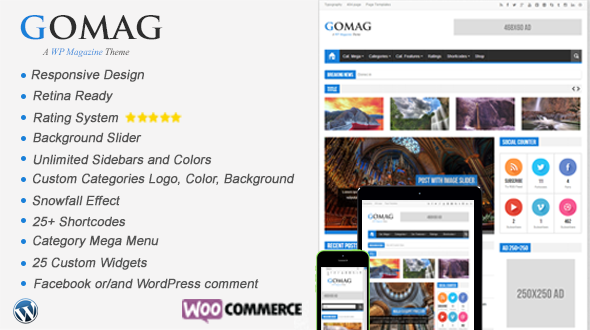 Gomag – Responsive News, Magazine and Blog WordPress Theme