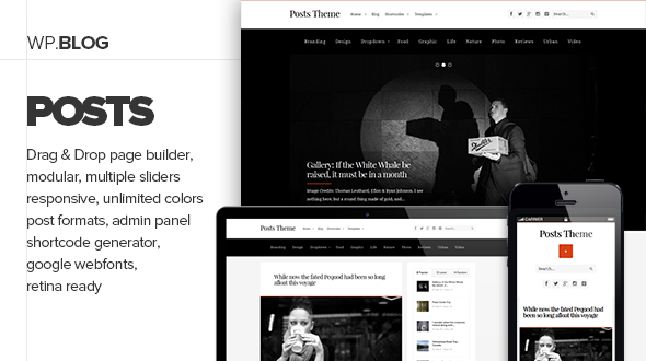 Posts – Responsive Personal Blog Theme
