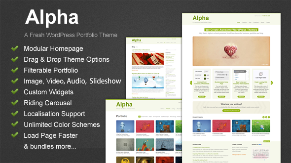 Alpha – A Fresh WordPress Theme for Business and Portfolio