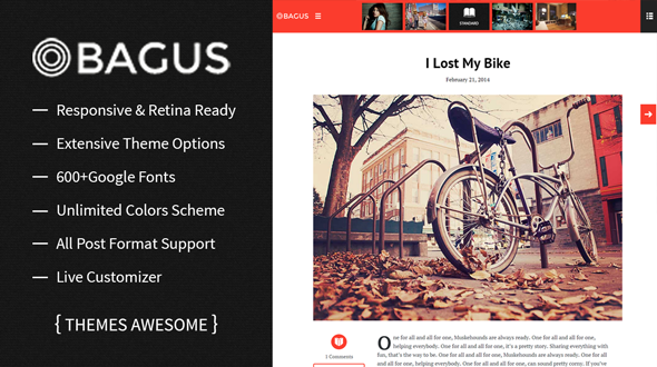 Bagus – Modern Blog WordPress Theme