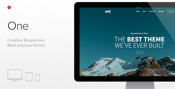 One – The Creative Multipurpose Portfolio theme