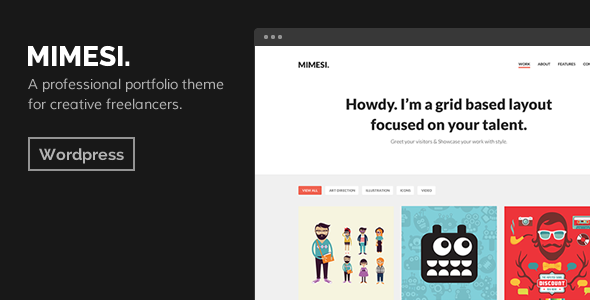MIMESI – Creative Portfolio Theme for WordPress