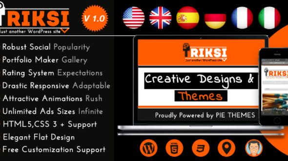 Triksi – Responsive Magazine WordPress Theme