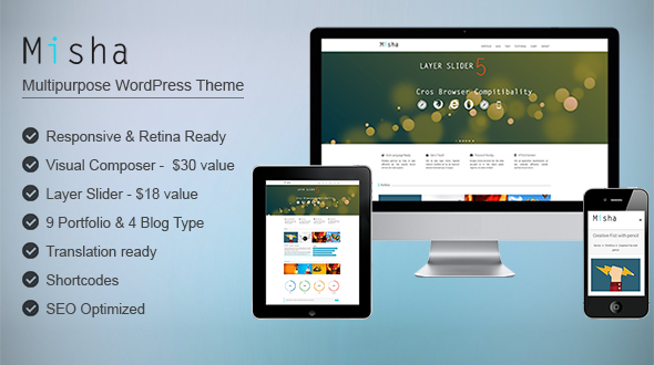 Misha – Portfolio WordPress Theme