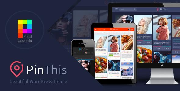 PinThis – Best Pinterest Style WordPress Theme