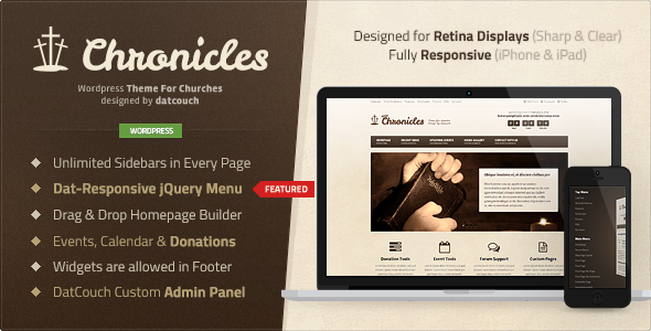 Chronicles – Premium WordPress Church Theme