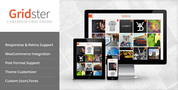 Gridster – Multi-Purpose Responsive Grid Theme