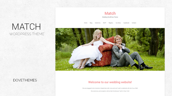 Match – Wedding WordPress Theme