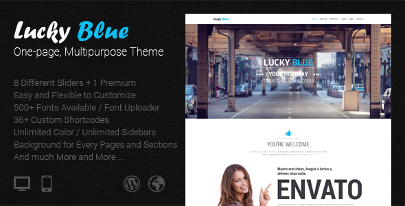 Lucky Blue – One-page, Multipurpose