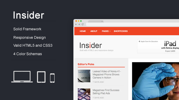 Insider – Responsive WordPress Blog Magazine Theme
