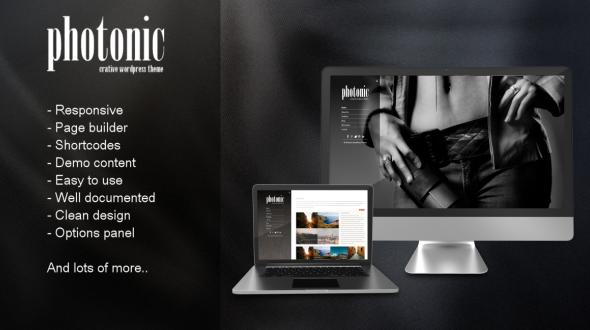 Photonic Responsive Portfolio Theme